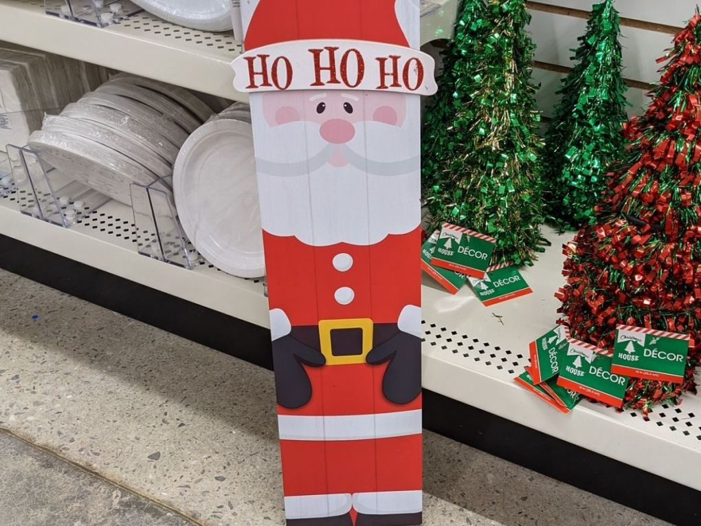 Dollar Tree Holiday Signs