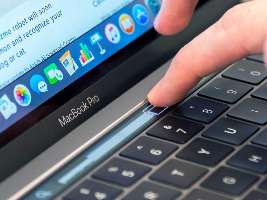 Cerrar el dedo con la barra táctil en el portátil