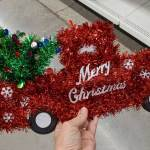 Christmas Form Tinsel Decorations Just 1 At Dollar Tree Great For Crafting Hip2save