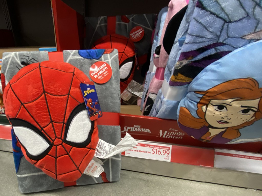 kids character pillow blanket sets