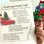 Free Printable Christmas Bucket List Family Holiday Fun Hip2save