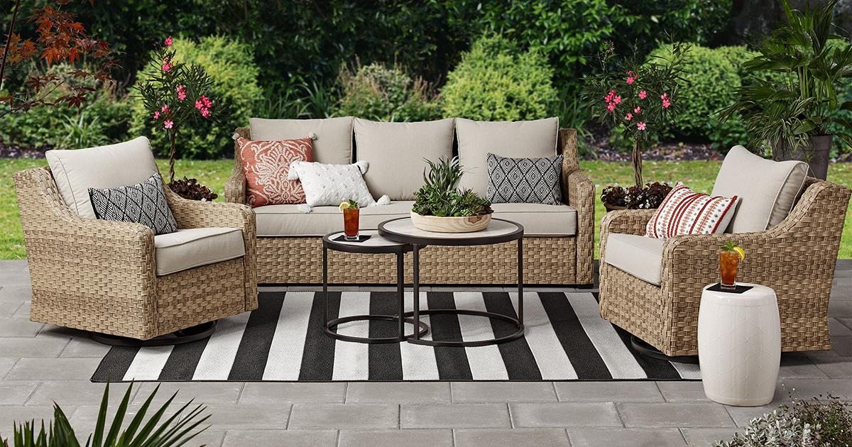 rated walmart patio furniture