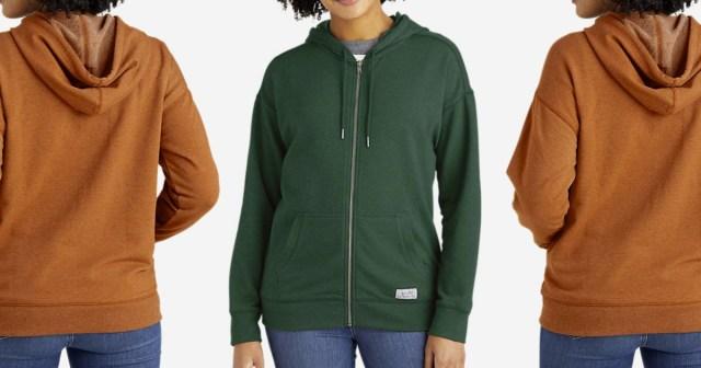Eddie Bauer brand women's hoodies in two colors