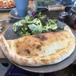 Giant calzone on a plate