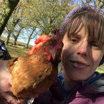 Hip2trek with a chicken