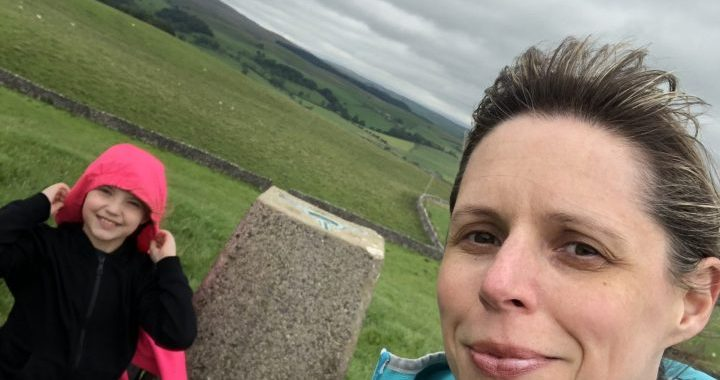 Hip2trek selfie with trig point