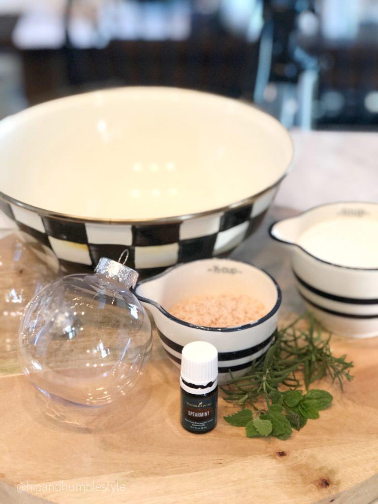 homemade rosemary mint bath soak