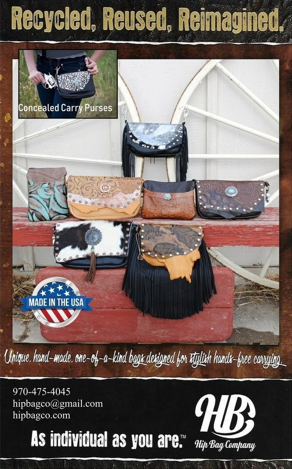 hip bag company advertisement for Western Equestrian Sales Association