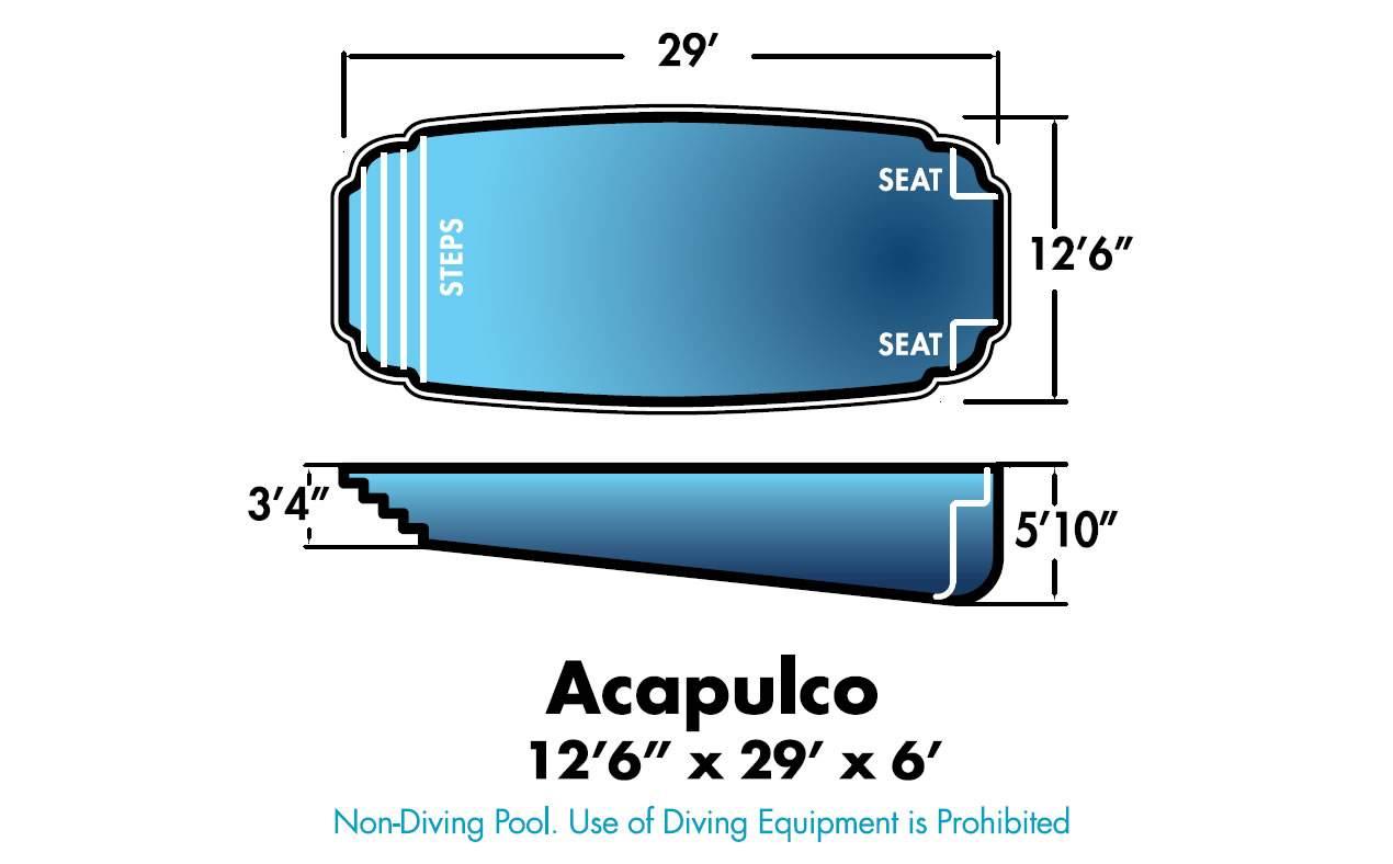 Dolphin Fiberglass Pools Acapulco Pool