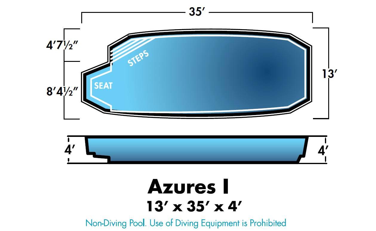 Azures Dolphin Fiberglass Pools