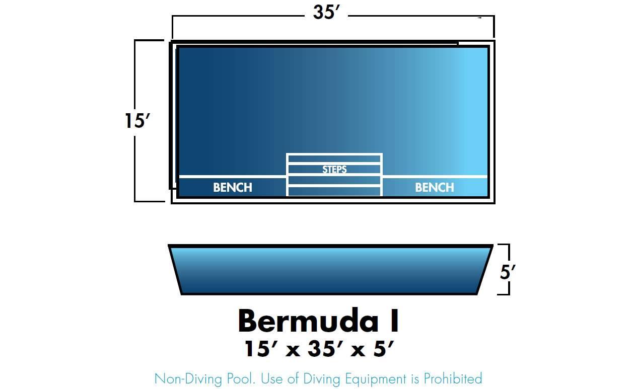 Dolphin Fiberglass Pools Bermuda I