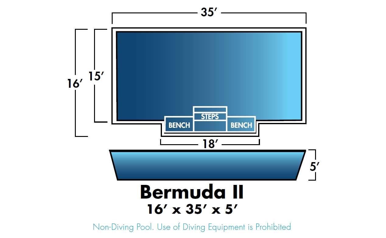 Dolphin Fiberglass Pools Bermuda II