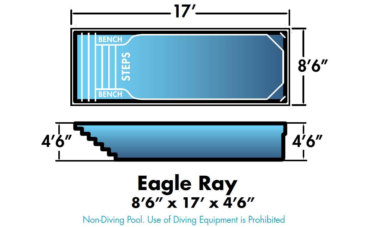Dolphin Fiberglass Pools Eagle Ray
