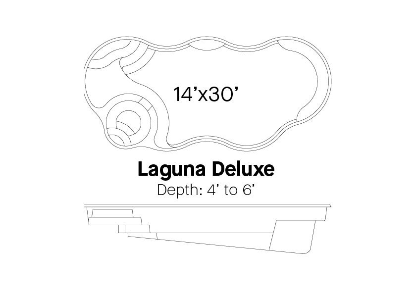 Latham Fiberglass Pools Laguna deluxe info