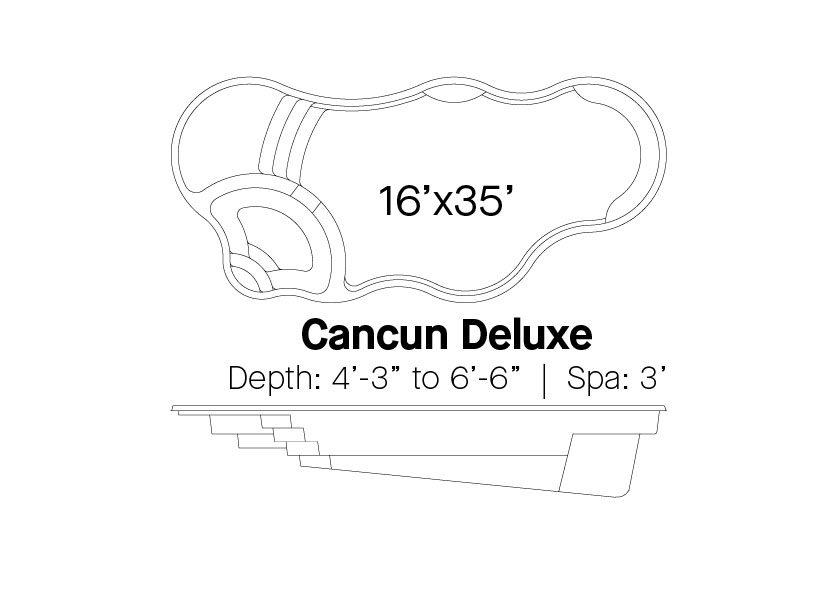Latham Fiberglass Pools Cancun Deluxe Info