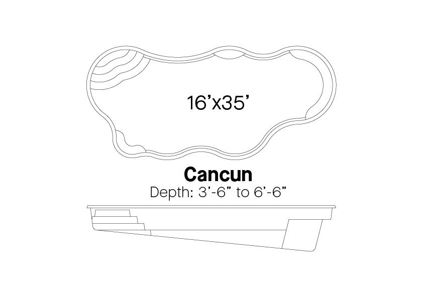 Latham Fiberglass Pools Cancun Info