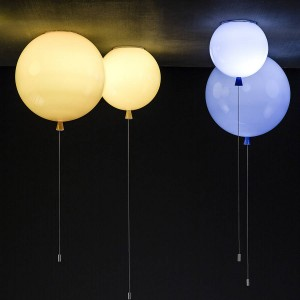 ballonlamp aan