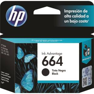 Cartucho HP 664 Preto F6V29AB 2ml