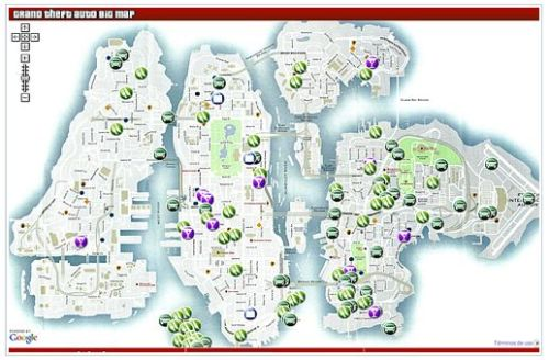The Liberty City Map (GTA IV)