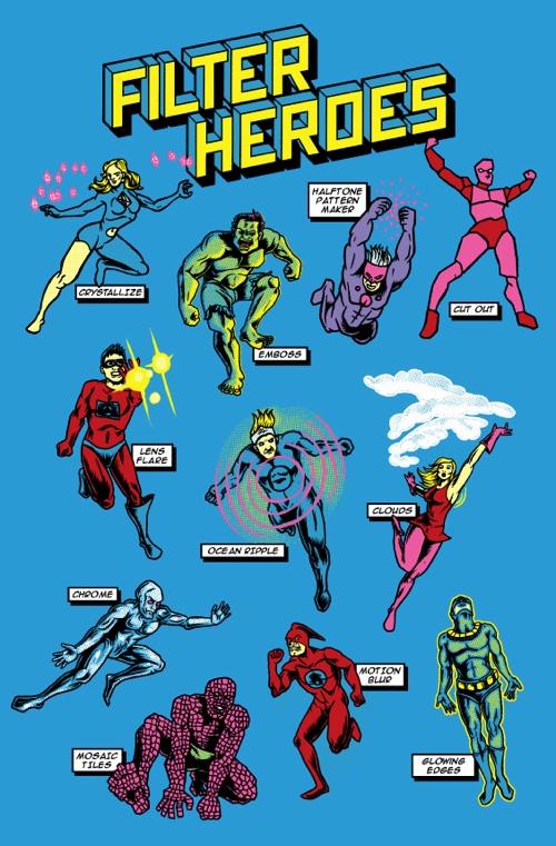 Los superherores filtros