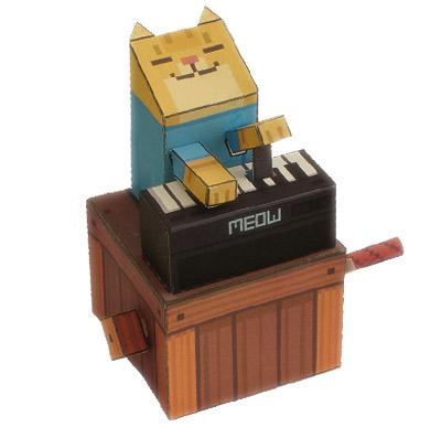 keyboard cat de papel