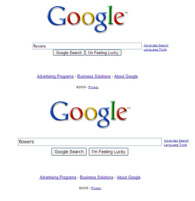 Google antes y despues