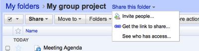 Carpetas Google Docs