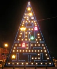 Arbol de navidad Pacman