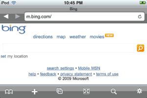 Bing! en iPhone