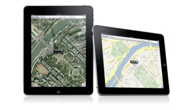 iPad interfaz Maps