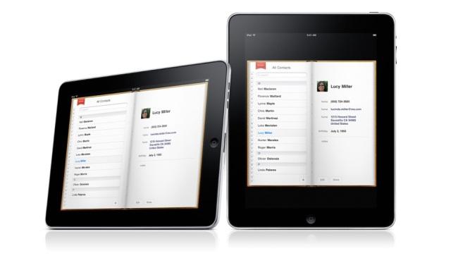 iPad interfaz Contactos