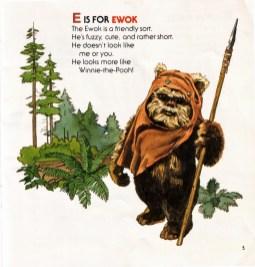 E is for Ewok