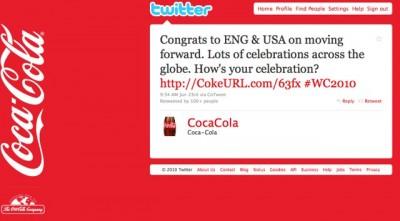 Promoted tweet de Coca-Cola
