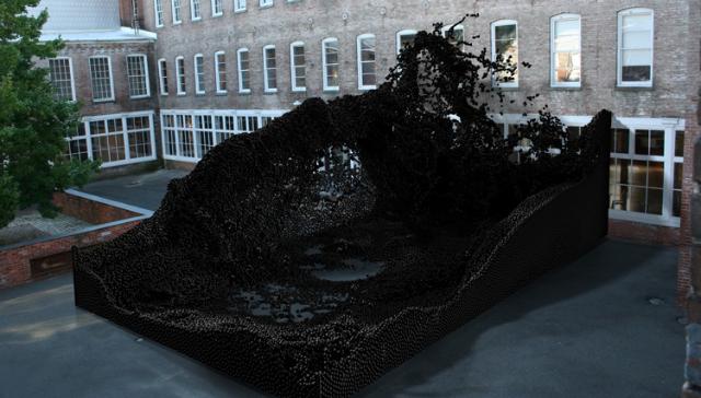 Escultura hecha por robots