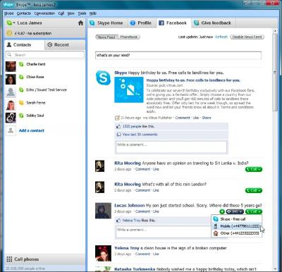Skype + Facebook