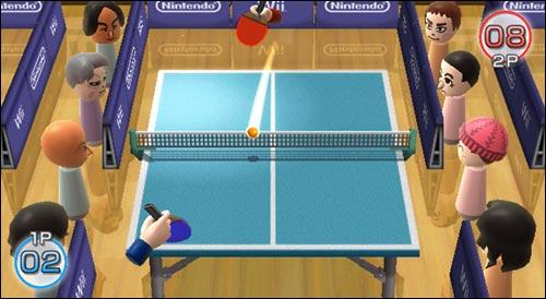 Wii Pong incluído en Wii Play