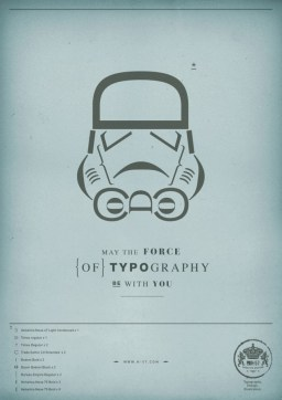 The force of Typography - Stormtrooper