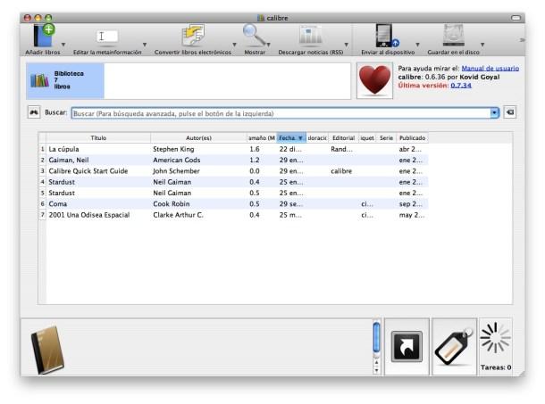 Calibre para organizar y enviar archivos a la nube es una aplicación muy potente, y sobre todo, esencial.