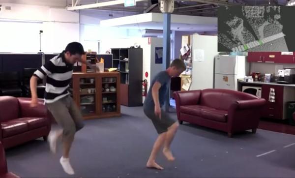 Gran piano con Kinect
