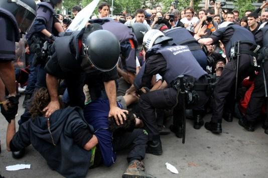 Desalojo acampada Barcelona 7