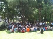 Asamblea en Plaza España