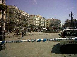 Puerta del Sol cerrada, 11hs