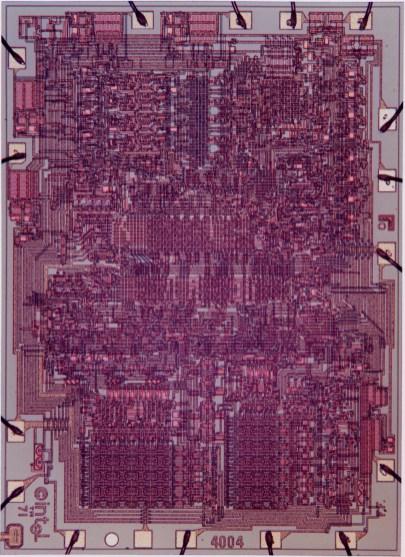 4004 al microscopio