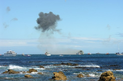 HMNZS Wellington Scuttle new reef cool explosion 4