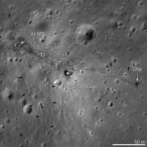 Imagen zona aterrizaje rover lunar NASA