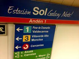Señalética Metro Sol