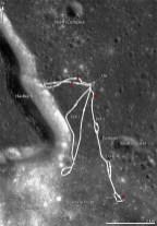 Rutas realizadas rover lunar