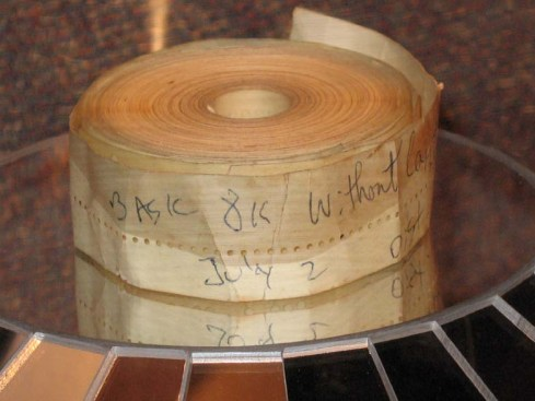 Altair_BASIC_Paper_Tape-Bill Gates