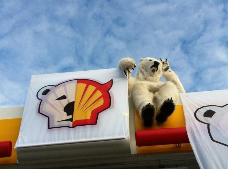 Protesta en Copenhague contra Shell por perforación en el Ártico