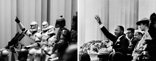 Star Wars - million trooper march' (bob adelman's photograph of martin luther king jr